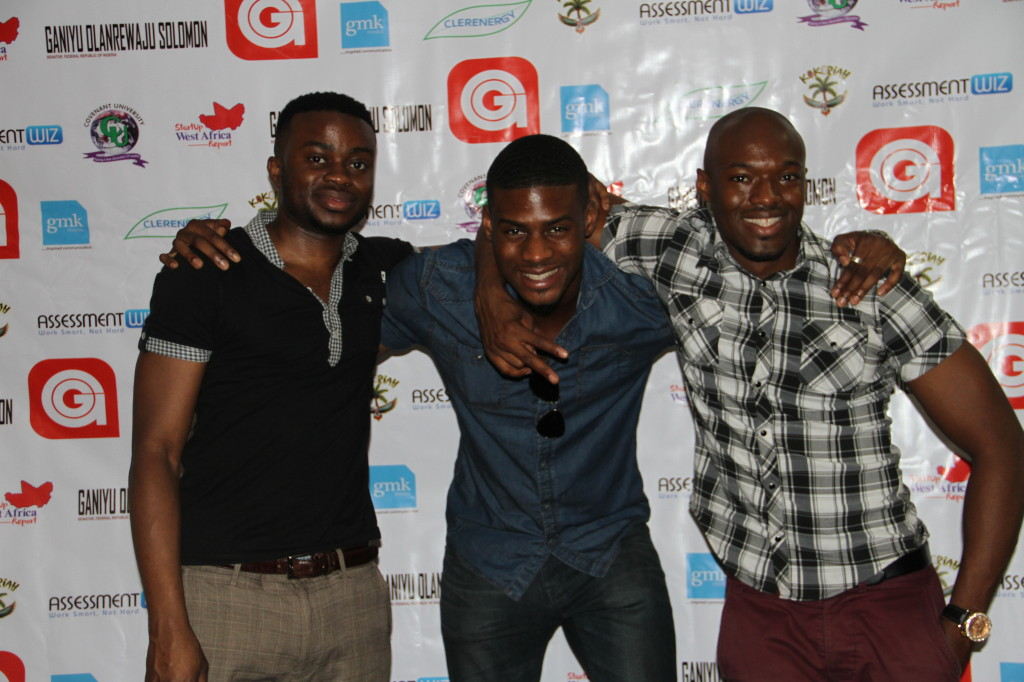 Seye, Tola and Alieu day before the GoGetters event